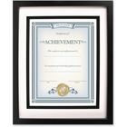 """Dax Burns Group Airfloat Certificate Frame - 8"""" x 10"""" Frame Size - Rectangle - Wall Mountable - Horizontal, Vertical - 1 Each - Glass, Hardboard, Solid Wood - Black"""