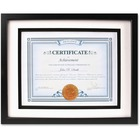 "Dax Burns Group Airfloat Certificate Frame - 8.50"" x 11"" Frame Size - Rectangle - Wall Mountable - Horizontal, Vertical - 1 Each - Glass, Hardboard, Solid Wood - Black"