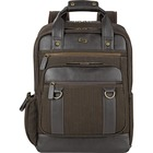 """Solo Executive Carrying Case (Backpack) for 15.6"""" Notebook - Brown - Scratch Resistant - Vinyl, Cotton - Shoulder Strap - 17"""" (431.80 mm) Height x 12"""" (304.80 mm) Width x 5"""" (127 mm) Depth"""