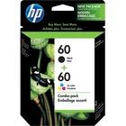 HP 60 Original Ink Cartridge - Black, Tri-color - Inkjet - 200 Pages Black, 165 Pages Tri-color - 2 / Pack