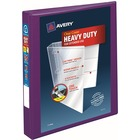 """Avery® Heavy-Duty View Binders - Locking One Touch EZD Rings - 1"""" Binder Capacity - Letter - 8 1/2"""" x 11"""" Sheet Size - Ring Fastener(s) - 4 Internal Pocket(s) - Poly - Purple - Recycled - Cover, Spine, Divider, One Touch Ring, Gap-free Ring, Non-stick"""