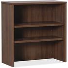 "Lorell Essentials Walnut Laminate Stack-on Bookshelf - 36"" x 15"" x 36"" - 2 Shelve(s) - Material: MFC, Polyvinyl Chloride (PVC) - Finish: Walnut, Laminate"