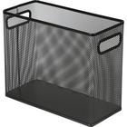 Lorell Mesh Tabletop File Hanging Folder - Black - Steel - 1 Each