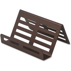 "Lorell Stamped Metal Business Card Holder - Support 3.50"" (88.90 mm) x 2"" (50.80 mm) Media - Steel - 1 Each - Brick Beige"