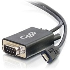 C2G USB 2.0 USB-C to DB9 Serial RS232 Adapter Cable - 3.3 ft Serial/USB Data Transfer Cable for Modem - First End: 1 x Type C Male USB - Second End: 1 x DB-9 Male Serial - 230 kbit/s - Shielding - 28 AWG - Black