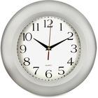 "Artistic Round Frame Wall Clock, 11"", Silver - Silver Main Dial - Silver"