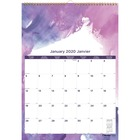 """Blueline Calendar - Monthly - January 2020 till December 2020 - 1 Month Single Page Layout - 12"""" x 17"""" Sheet Size - Twin Wire - Wall Mountable - Chipboard - Assorted - Bilingual, Reference Calendar"""