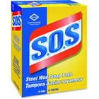 S.O.S Steel Wool Soap Pads - Pad - 18 / Box - Blue