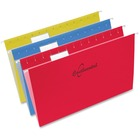 "Continental 1/5-cut Legal Hanging Folders - Legal - 8 1/2"" x 14"" Sheet Size - 1/5 Tab Cut - Assorted - Recycled - 25 / Box"