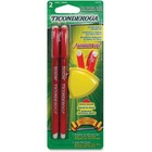Ticonderoga Erasable Red Checking Pen - 1 mm Pen Point Size - Red - 2 / Box