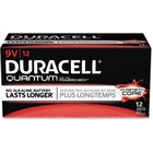Duracell Quantum General Purpose Battery - For Multipurpose - 9V - 9 V DC - Alkaline Manganese Dioxide - 12 / Box