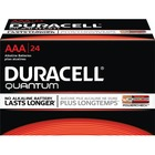 Duracell Quantum 2400 General Purpose Battery - For Multipurpose - AAA - 1.5 V DC - Alkaline Manganese Dioxide - 24 / Box