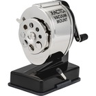 X-Acto Vacuum Mount Manual Pencil Sharpener - 8 Hole(s) - Helical - Metal - Black, Metal