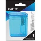 X-Acto Sliding Door Pencil Sharpener - Handheld - Blue - 1 Each