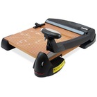 "X-Acto 12"" Blade Wood Base Laser Trimmer - Cuts 12Sheet - 12"" (304.80 mm) Cutting Length - 5"" (127 mm) Height x 15.13"" (384.18 mm) Width x 18.13"" (460.38 mm) Depth - Wood Base, Steel Blade - Black, Brown"