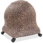 Posture Perfect Solutions Evolution Chair Ball Chair Leopard Cozy Slipcover - Supports Ball Chair - Breathable, Non-toxic, Antibacterial, Odor Resistant, Environmentally Friendly - Fabric - Brown Leopard - 1