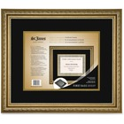 """First Base Awards & Certificate Frame. Florentine Gold Double Mat - 14.75"""" x 14.25"""" Frame Size - Holds 8.50"""" x 11"""" Insert - Rectangle - Landscape, Portrait - Double Mat - Florentine Gold"""