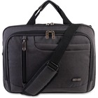 """Roots Carrying Case (Messenger) for 15.6"""" Notebook - Gray - Slip Resistant Shoulder Strap, Bump Resistant, Scratch Resistant - Polyester - Handle, Shoulder Strap, Trolley Strap - 12"""" (304.80 mm) Height x 16"""" (406.40 mm) Width x 3"""" (76.20 mm) Depth"""