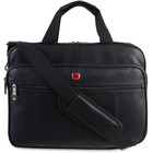 """Holiday Carrying Case for 15.6"""" Notebook - Black - Slip Resistant Shoulder Strap - Polyurethane Handle, Faux Leather Handle - Shoulder Strap, Handle, Trolley Strap - 11.50"""" (292.10 mm) Height x 15.50"""" (393.70 mm) Width x 3.75"""" (95.25 mm) Depth"""