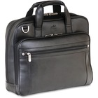 """MANCINI 5th AVENUE Carrying Case (Briefcase) for 15.6"""" Notebook - Black - Genuine Leather - 12.75"""" (323.85 mm) Height x 16"""" (406.40 mm) Width x 4.50"""" (114.30 mm) Depth"""