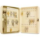 "Master Key Cabinet - 9.4"" x 3"" x 11.8"" - Cylinder Lock, Heavy Duty - White - Powder Coated - Steel"