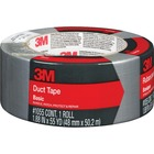 "3M Basic Duct Tape - 55 yd (50.3 m) Length x 1.88"" (47.8 mm) Width - Cloth Backing - 1 Each - Silver"