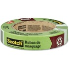 """Scotch General Painting Masking Tape - 60.1 yd (55 m) Length x 0.94"""" (24 mm) Width - Residue-free, Easy Unwind - 1 Each - Green"""