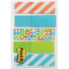 """Post-it® Designer 1/2"""" Flags Geo Collection - 0.50"""" - Removable, Repositionable - 100 / Pack"""
