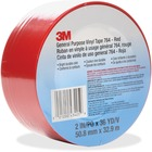 "3M General Purpose 764 Vinyl Tape - 36 yd (32.9 m) Length x 2"" (50.8 mm) Width - Vinyl - 4 mil - Polyvinyl Chloride (PVC) Backing - Residue-free, Flexible, Removable, Comfortable - 1 Each - Red"