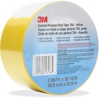 "3M General Purpose 764 Vinyl Tape - 36 yd (32.9 m) Length x 2"" (50.8 mm) Width - Vinyl - 4 mil - Polyvinyl Chloride (PVC) Backing - Residue-free, Flexible, Removable, Comfortable - 1 Each - Yellow"