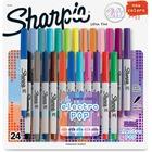 Sharpie ElectroPop Ultra Fine Perm Markers - Ultra Fine Marker Point - 24 / Pack
