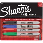 Sharpie Extreme Permanent Marker - Fine Marker Point - Assorted - 4 / Pack