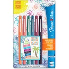 Paper Mate Expressive - Medium Pen Point - Assorted Water Based Ink - 6 / Pack
