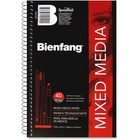 "Bienfang Drawing Pad - 40 Sheets - Spiral - 90 lb Basis Weight - 8.50"" (215.90 mm) x 5.50"" (139.70 mm) - Black Cover - Textured, Erasable, Acid-free, Yellowing Resistant - 1Each"