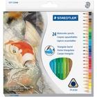 Staedtler Watercolor Pencils Set - 2.9 mm Lead Diameter - Assorted Lead - Wood Barrel - 12 / Set