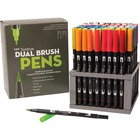 Tombow Dual Brush Art Pen Desk Set - Full Set of Colours - Fine Marker Point - Brush Marker Point Style - Assorted Water Based Ink - Nylon Tip - 1 Set