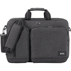 """Solo Urban Carrying Case (Briefcase) for 15.6"""" Notebook - Gray, Black - Damage Resistant - Polyester Body - Handle, Shoulder Strap, Backpack Strap - 12.50"""" (317.50 mm) Height x 17"""" (431.80 mm) Width x 5"""" (127 mm) Depth"""