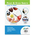"""U.S. Stamp & Sign Print/Stick Letter Size Sheets - Self-adhesive - Printable, Repositionable - 11"""" (279.4 mm) Height x 8.50"""" (215.9 mm) Width - White - 6 / Pack"""