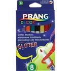 Prang Decor Glitter Markers - Assorted Water Based Ink - Felt Tip - 8 / Box