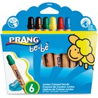 Prang be-be Jumbo Colored Pencils - Assorted Lead - 6 / Box