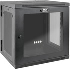 "Tripp Lite SRW12USDPG SmartRack 12U UPS-Depth Wall-Mount Rack Enclosure Cabinet - For UPS - 12U Rack Height x 19"" (482.60 mm) Rack Width x 24.50"" (622.30 mm) Rack Depth - Wall Mountable - Black, Clear - Steel, Acrylic - 90.72 kg Maximum Weight Capacity -"