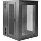 "Tripp Lite SRW18USDPG SmartRack 18U UPS-Depth Wall-Mount Rack Enclosure Cabinet - For UPS - 18U Rack Height x 19"" (482.60 mm) Rack Width x 24.50"" (622.30 mm) Rack Depth - Wall Mountable - Black, Clear - Steel, Acrylic - 113.40 kg Maximum Weight Capacity -"