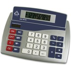 Aurex Big Number Display 10-digit Calculator - Big Display, Easy-to-read Display, Dual Power, Fixed Angled Display, Compact - Silver, Blue - 1 Each