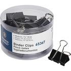 Business Source Medium 24-count Binder Clips - Medium - for Paper, Project, Document - 24 / Pack - Black - Steel, Zinc