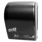 Genuine Joe Solutions Touchless Hardwound Towel Dispenser - Touchless, Hardwound Roll - Black - Touch-free