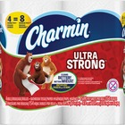 Charmin Ultra Strong Bath Tissue - 2 Ply - 154 Sheets/Roll - White - Absorbent, Clog-free, Septic Safe - For Bathroom - 4 / Pack