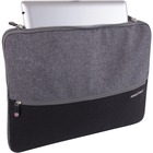 """SwissGear Carrying Case (Sleeve) for 14"""" Notebook - Gray, Black - Scratch Resistant Interior - Polyester"""