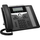 Cisco 7861 IP Phone - Wall Mountable, Desktop - Charcoal - VoIP - Caller ID - Speakerphone - 2 x Network (RJ-45) - PoE Ports - Monochrome - DHCP, SRTP, CDP, LDAP, SIP, TLS Protocol(s)