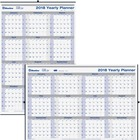"""Blueline Net Zero Carbon Wall Calendars - Yearly - 1 Year - January 2018 till December 2018 - 36"""" x 24"""" - Twin Wire - Chipboard - Wall Mountable - Paper - Double-sided, Reinforced, Eyelet"""