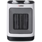 Lorell Adjustable Ceramic Heater - Ceramic - Electric - Electric - 900 W to 1.50 kW - 1500 W - White